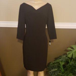 Tahari jet black dress nwt